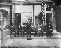 Image of First officers of Georgetown State Bank, organized September, 1909, seated