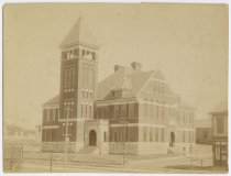 Image of Exterior of the Shelby Street School, New Albany, Ind., ca. 1893 - Schools