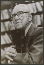 Image of Portrait of Adrian Struble holding bible, ca. 1993 - Men Portrait photographs Clergy