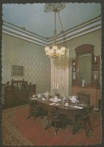 Image of Postcard of Culbertson Mansion dining room, New Albany, Ind. - Mansions Dining rooms Postcards