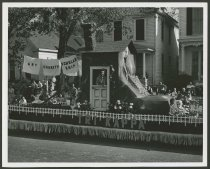 Image of Tri Kappa float in New Albany, Ind. Sesquicentennial Parade,1963 - Celebrations Parades & processions Floats (Parades)