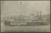 "Image of Postcard of the steamboat ""Sherley"" - Steamboats