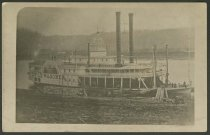 """Image of Postcard of the steamboat """"Wild Wagoner,"""" Wheeling Wharf, ca. 1868 - Steamboats"""