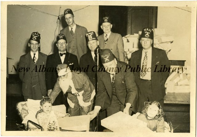 Mayor C  Pralle Erni and the Masonic Temple Shriners