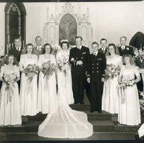 Image of Clarence Milford Bjork and Helen Aminda Kukkonen Wedding (front)
