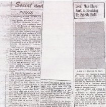 Image of 2 newspaper articles