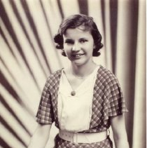 Image of Helen Kukkonen, high school graduation? 1938