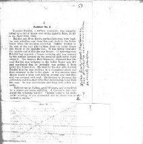 Image of newspaper article about the mining accident that killed Lorenzo Baldini