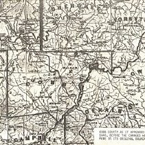 Image of Cobb County as it appeared in 1845, before the changes were made in its original boundaries - Cobb County
