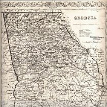 Image of Georgia county map 1855
