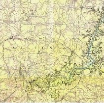 Image of Map of potential used for evaluating alternate location of Buford Dam and Lake Lanier - Cobb and Milton Counties