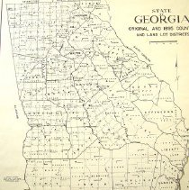 Image of State of Georgia - Original 1895 Counties and Land Lot Districts - Georgia