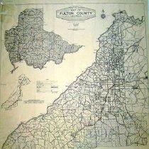 Image of Robert's Map of Fulton County, Georgia - Fulton County, part of Dekalb County