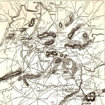 Image of Roswell in 1864-Topographical Map Sherman Advance