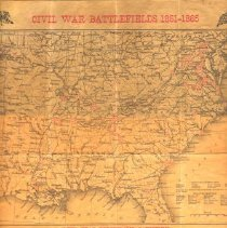 Image of Civil War Battlefields Map