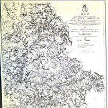 Image of Civil War Map 4 Atlanta Campaign map