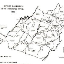 Image of Cherokee Nation District Boundaries 2