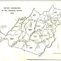Image of Cherokee Nation district boundaries