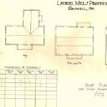 Image of Laurel Mill Mfg Co Roof plans Houses #5-#9