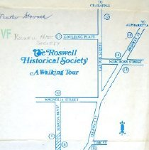 Image of Roswell Bank Map back