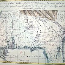 Image of New Map of GA with SC FL LA 1748