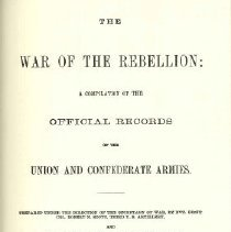 Image of The War of the RebellioA: a compilation of the official records of the Union and Confederate Armies. - U.S. Government