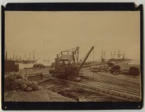 Photograph of the crane 'Hercules' on a railway li...