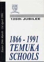 Image of Temuka District High School 125th jubilee : souvenir booklet  - McGillen, L J