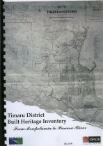 Image of Timaru District built heritage inventory : from Mesopotamia to Pareora - Habberfield-Short, Jeremy