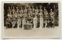 Image of The Canterbury Regimental Army Band, circa 1916 -