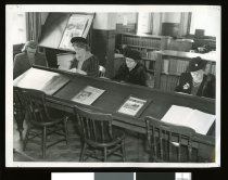Image of [Women reading at the Timaru Library] - Timaru District Libraries Collection