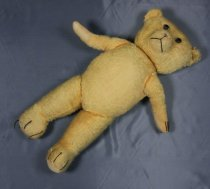 Image of Animal, Stuffed - Large golden coloured teddy bear soft toy.Teddy Bear ( called Big Ted) belonged to Jean Howell nee Prestidge and is about 70 years old.