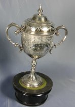 Image of Trophy with lid and base (upside down)