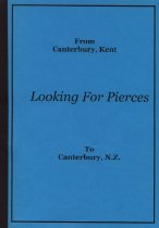 Image of From Canterbury, Kent to Canterbury, N.Z. : looking for Pierces :  - Cameron, Jan