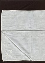Image of Handkerchief - Set of six white Irish linen handkerchiefs in cardboard folder.