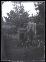 Image of [James Dundas Hamilton and his dogs] - Clayton Station Collection