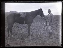 Image of [Aplin with Horse, Clayton Station] - Clayton Station Collection