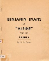 "Image of Benjamin Evans of ""Alpine and his family"" - Evans, B L"