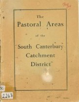 Image of The pastoral areas of the South Canterbury Catchment District. Parts I & II - Kerr, C. J. (Charles James)