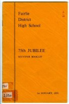Image of Fairlie District High School, 75th jubilee : souvenir booklet                                                                                                   -
