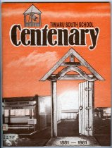 Image of Timaru South School Centenary 1881-1981 - Hannam, Mary (ed.)