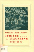 Image of Silver Jubilee of the Waimate High School 1929-1954 -