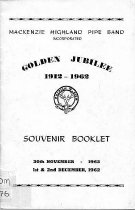 Image of Mackenzie Highland Pipe Band Inc : Golden jubilee 1912-1962                                                                                                                        -