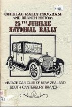 Image of Official rally program and branch history : 25th Jubilee National Rally : Vintage Car Club of New Zealand. South Canterbury Branch - Moran, Danny G