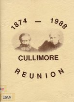 Image of Cullimore reunion, 1874-1988, including earlier history  - Cullimore, Trevor