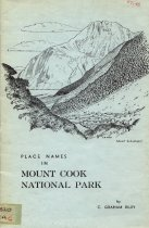 Image of Place names in Mount Cook National Park - Riley, C. Graham (Charles Graham)
