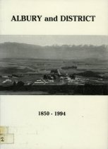 Image of A history of the Albury district - Glass, Yshbel, 1925-
