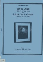 Image of Our Ancestors John Lane and Julia Callaghan from County Cork, Ireland. - Thomson, Eileen