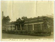 Image of [First wagon of timber for John Jackson & Co Ltd through the Otira tunnel] -