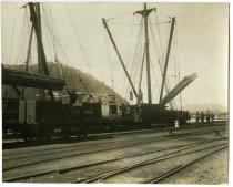 Image of [Loading timber at Greymouth for John Jackson & Co Ltd] -